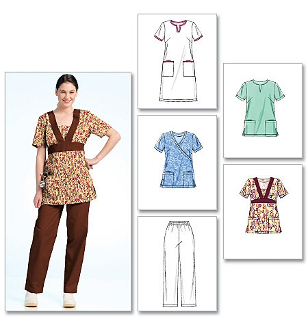 McCall's M5895 Scrubs, tops, dress and pants