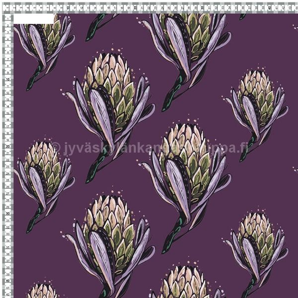 Digiprintti trikoo Crimson Clover Purple