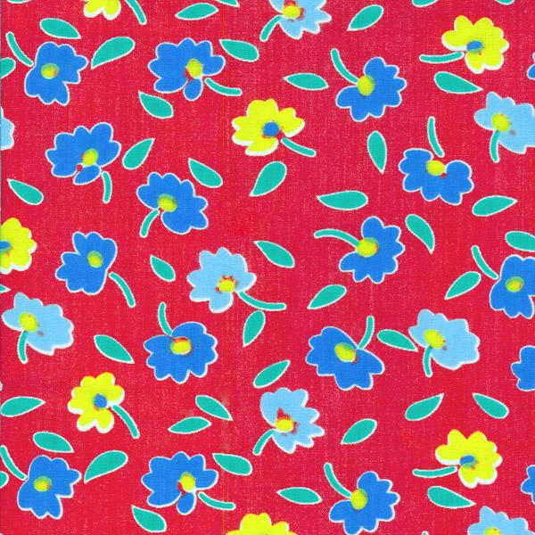 One nappy fabric piece red flower