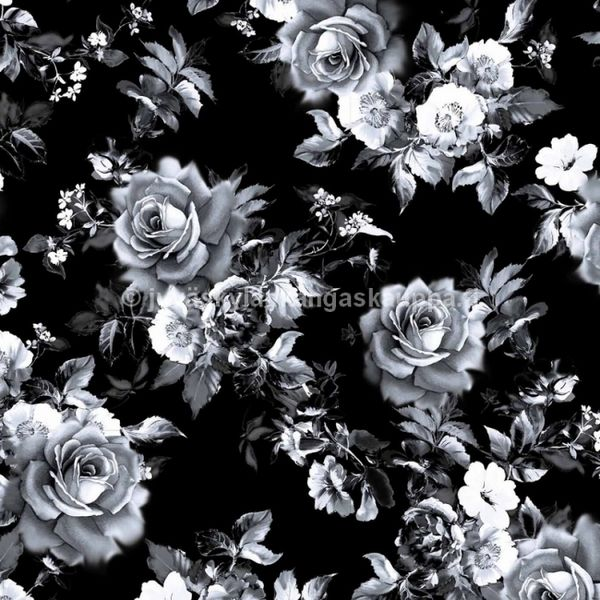 Digital jersey Black Rose