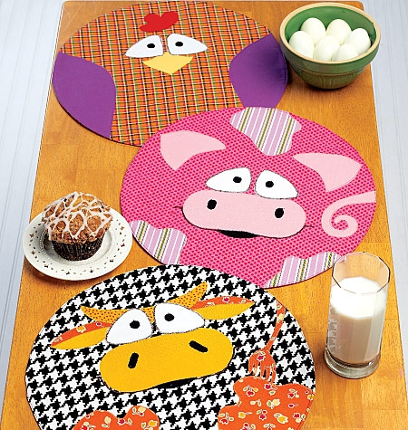 Kwik SEW K0217 Farm animal place mats