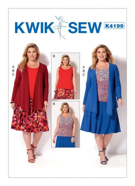 Kwik SEW K4199 Plus size jacket, tank top and skirt