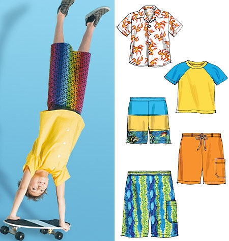 McCall's M6548 Boys' shirt, top and shorts