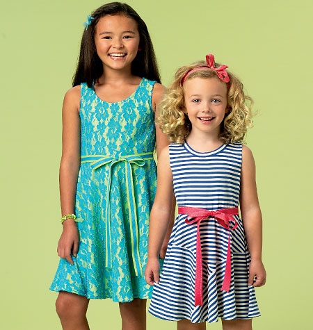 McCall's M6915 Girls' circle dress