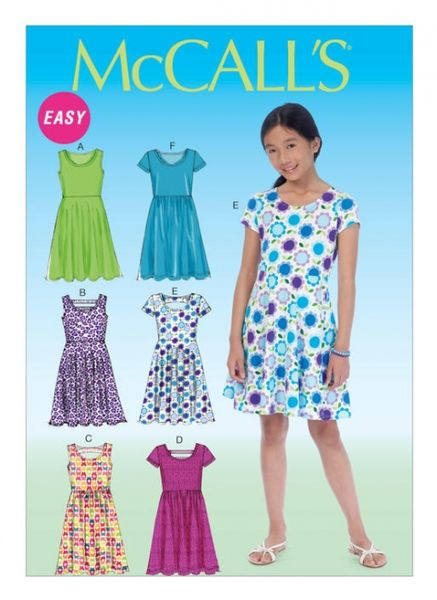 McCall's M7079 Girls' A-line dresses