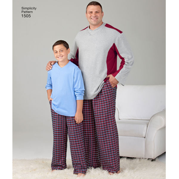 Simplicity Pattern S1505A  Husky Boys' and Tall Men's Pants and Top