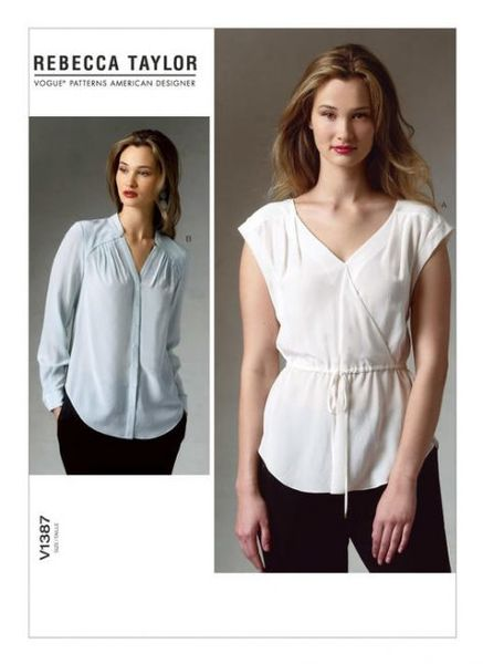 Vogue pattern V1387 PLEATED SURPLICE TOPS