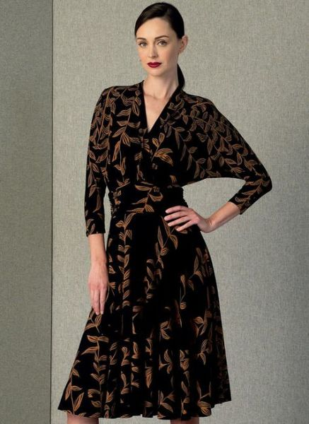 Vogue pattern V1405RUCHED-WAIST MOCK-WRAP DRESS