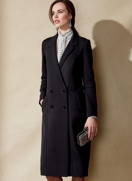 Vogue V1562 Double-breasted lined coat